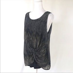 Anthropologie Deletta knotted tank top camisole L